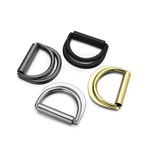 Auto Lock Western Double D Ring Bag Metal Buckles For Mens Belt