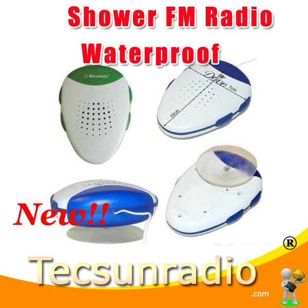 Hot sale Shower radio FM mini radio waterproof radio