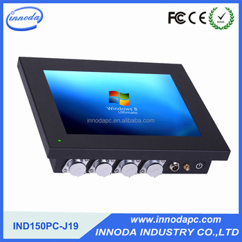 Innoda 15 Inch Industrial Panel Pc J1900 Dual-core CPu IP65 Front Panel Computer