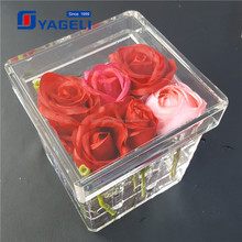 Factory supply cheaper price clear acrylic flower stand with 9 roses