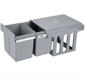 slide out cupboard recycle   waste food disposal pull out bin