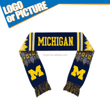 Welcome custom NCAA Michigan Wolverines Wolverines Viscose Plaid Fleece Scarf