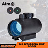 Aim-O air riflescope hunting Scope aisoft Tactical Holographic Optics Red Green Dot Gun Sight Riflescope For Airsoft AO3012
