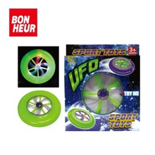 Top selling plastic led frisbee flashing lights UFO toy for kids