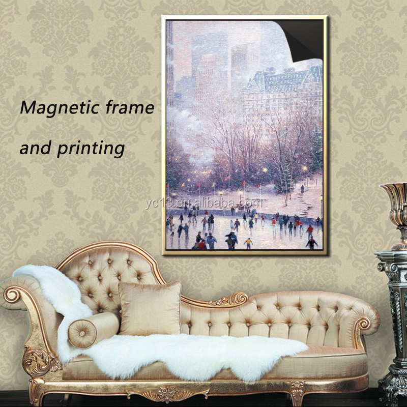 top quality wholesale magnetic photo frame & print painting Thomas kinkaides 1013-184