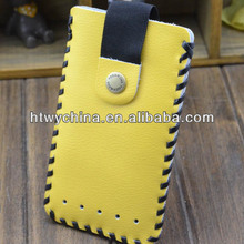 Showkoo Handmade Leather Case Pouch Purse Sleeve Cover fit for iPhone 4 4S 5 5S 5C cell phone case