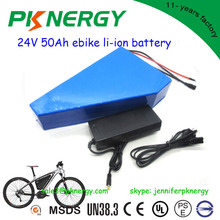 High energy rechargeable triangle lithium ion motorcycle battery 24V 36V 48V 10ah 20ah 30ah 50ah ebike li-ion battery pack