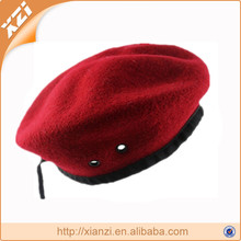 Red military Knitted Military 100% Wool Beret Hats