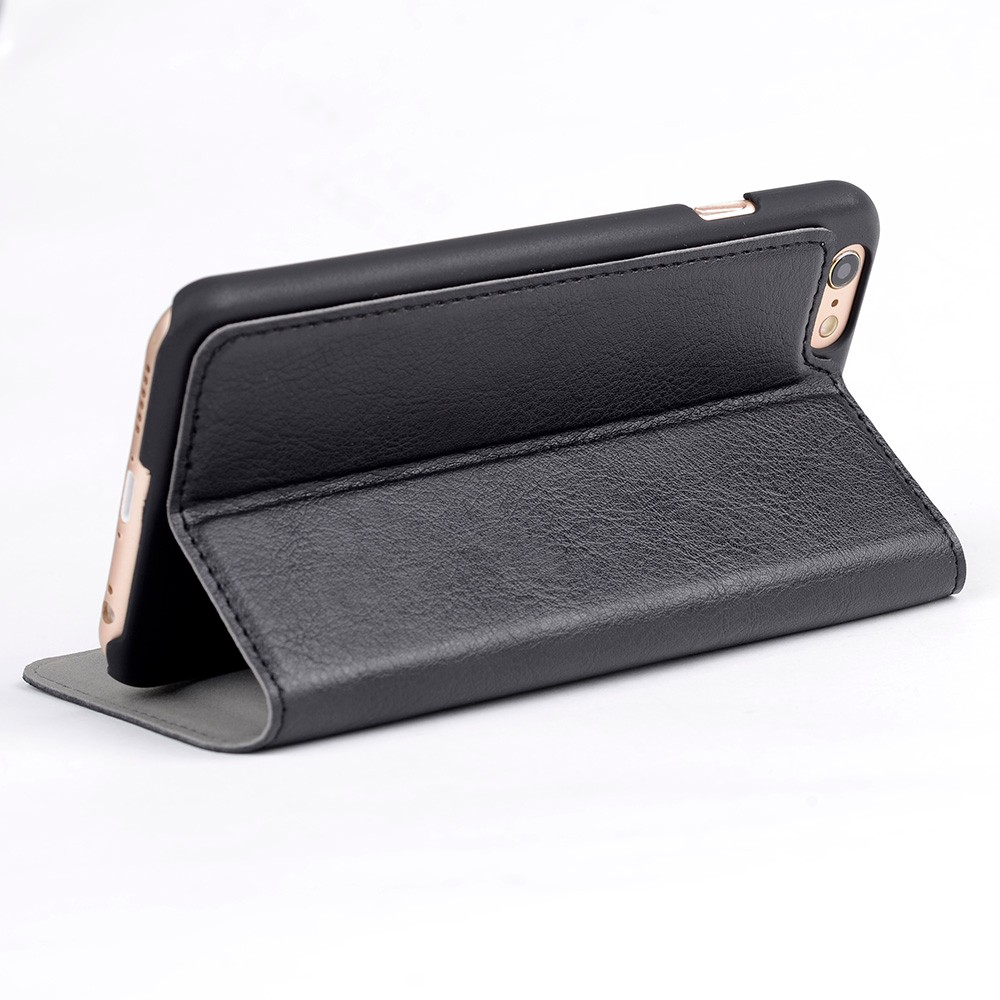 Wholesale Book Style Mobile Phone PU Leather Folio Wallet Case for iPhone 7