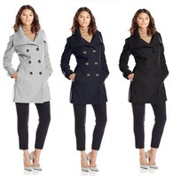 EY0194A 2015 Autumn New Coming Warm Clothing Slim Fit Cheap Price Women Woolen Coat lady double-breasted coat
