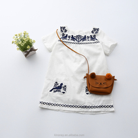 KS10270G Latest style girls daily wear casual dress fancy kids embroidery designs frock