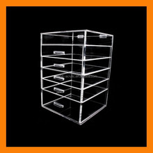 American and European market acrylic deco cosmetic organizer clear