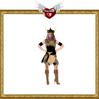 Halloween Brave Viking Women Costumes Female Sexy Exotic Clothes for Woman