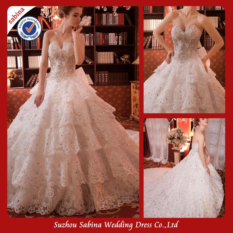 Sh0343 Custom Made Turkish Wedding Dresses Bling Wedding Dresses Ball Gown With Long Trains