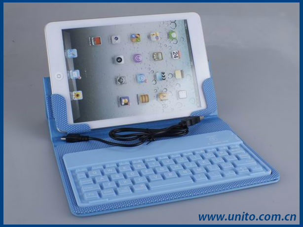 stand leather case with wireless bluetooth keyboard for ipad mini