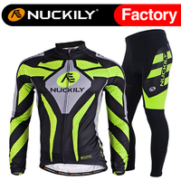 Nuckily Hot selling men's winter good quality fleece long cycling sets