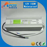 150w 12v IP67 constant voltage triac dimmable waterproof led power supply