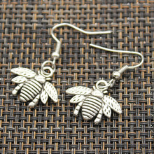Free sample fashion earrings jewelry trendy antique silver alloy earrings bumblebee honey bee earring women gift