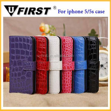 New Product Flip Card Holder Wallet Mobile Phone Case Cover Pouch For iphone 5 5s
