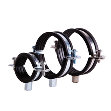 thread rod pipe fixing clamps with epdm rubber lining
