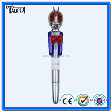 Plastic ball pen with led light,christmas gift boxing ball pen,boxing light pen