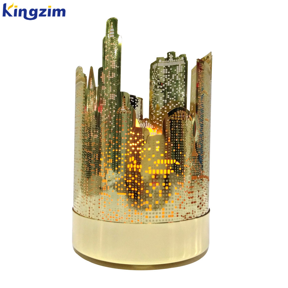 Metal Hurricane Home Decor gold candle holder insert metal holders