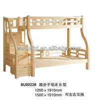 Stepper bunk bed for children,solid wood scoth pine wood bed,adjustable left and right