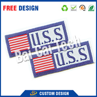 Attractive design beautiful and colorful custom printed custom garment woven label, China woven label