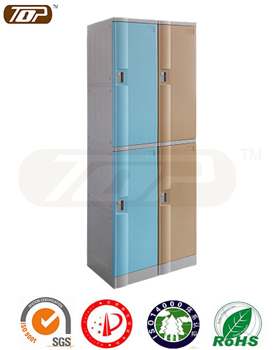 2 tiers plastic lockers for changing room