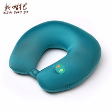 Hot selling electric neck vibrate massage pillow head massager cushion with infrared heat