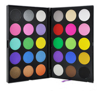 Professional cheap 2 layers 30 color long wearing and crease resistant shimmer matte eye shadow palette