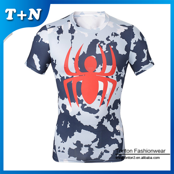 China mens gym clothing custom t shirt printing skin tight T shirt printing china