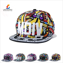 Fashion Wholesale 5 panel hat/custom 5 panel hat/floral 5 panelcap