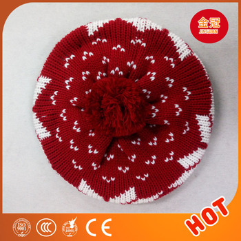Warm girl winter knit hat