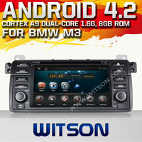 WITSON Android 4.2 7 inch double din car dvd for BMW E46(1998-2005) WITH A9 CHIPSET 1080P 8G ROM WIFI 3G INTERNET DVR SUPPORT