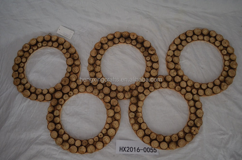 Handmade Olympic Rings Art Minds Wooden Crafts