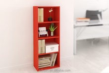 Red colorful kids bookshelf with simple design