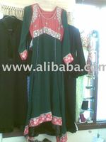 Embriodered Frock with Churidar Pajama