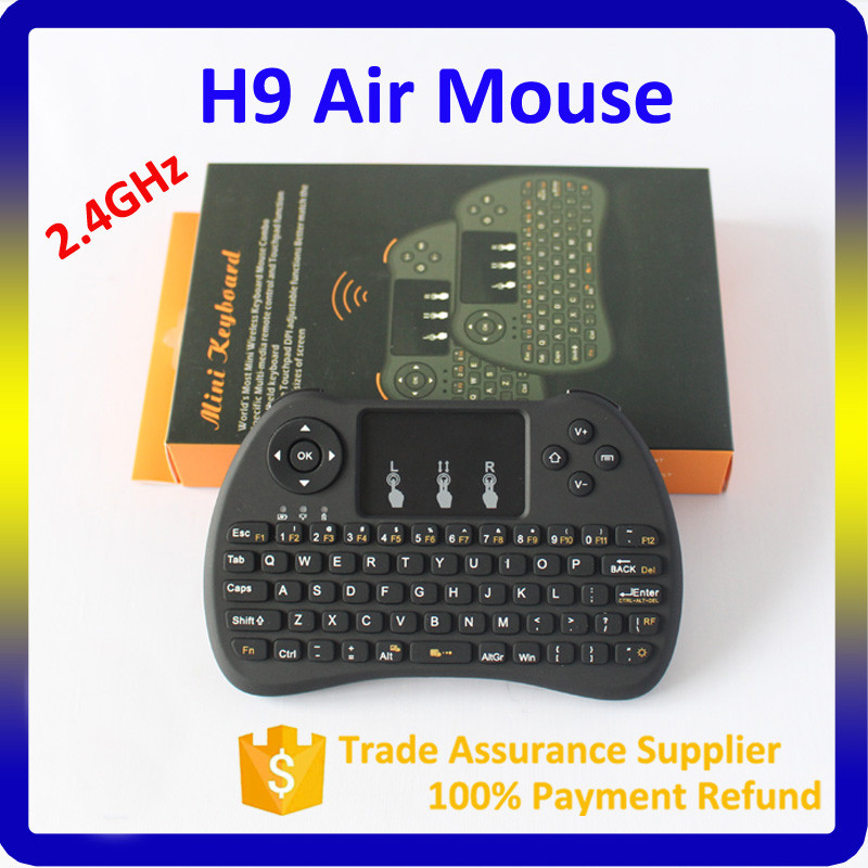 Android tv box using 2.4G Wireless mini keyboard H9 Fly Air Mouse Keyboard Mouse for fire tv stick