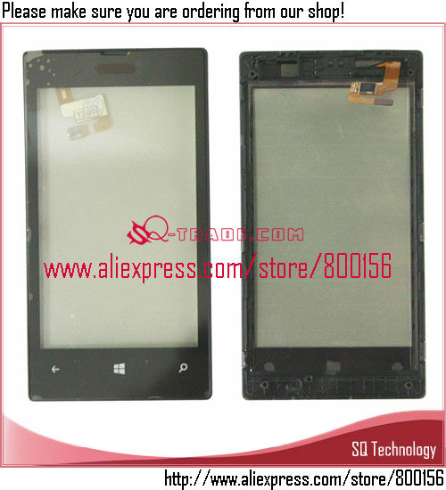 New Replacement Parts For Nokia Lumia 520 Touch Screen Digitizer glass with Frame Alibaba