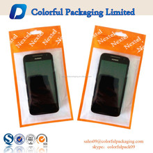 Clear printed resealable mobile phone case packaging