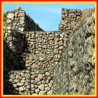Retaining Wall Hexagonal Wire Mesh / Gabion Wall / Wire Netting For Stone Wall