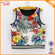 Fashion letter flower tank top print, sexy tank top women