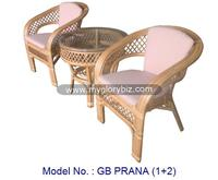 modern rattan furniture for home living with rattan armchair and round table