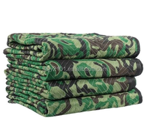 "Waterproof polyester 72""x80"" camo moving blankets"