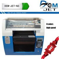 cmyk+wwww 8 colors fast speed textile machinery manufacture textile digital printing machine