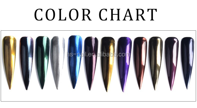 factory lower price mirror effect powder magic pigment for nail art decoration