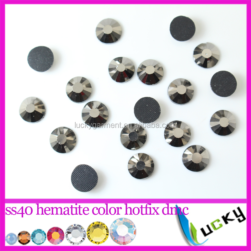 ss40 aurum hematite color hotfix dmc 8.3-8.4mm crystal rhinestones with glue