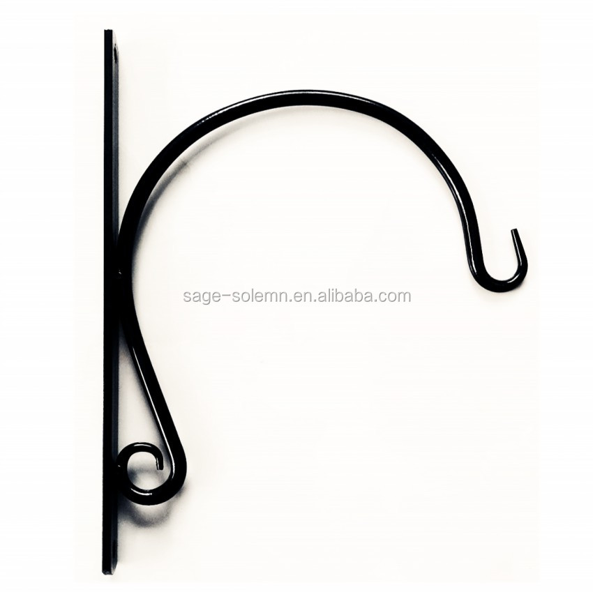 New Design Wrought Iron Plant Hanging Bracket Hanging Basket Bracket