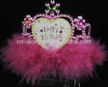 happy brithday flashing led tiara
